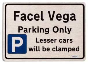 Gift for Facel Vega car owner | New Parking only Sign | Metal face Brushed Aluminium